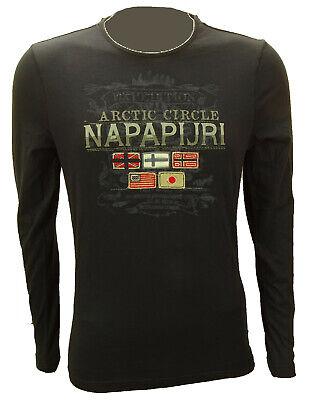 Napapijri Langarmshirt Longsleeves Shirt Dunkelblau Gr.M Neu Brand Neu UVP 79€
