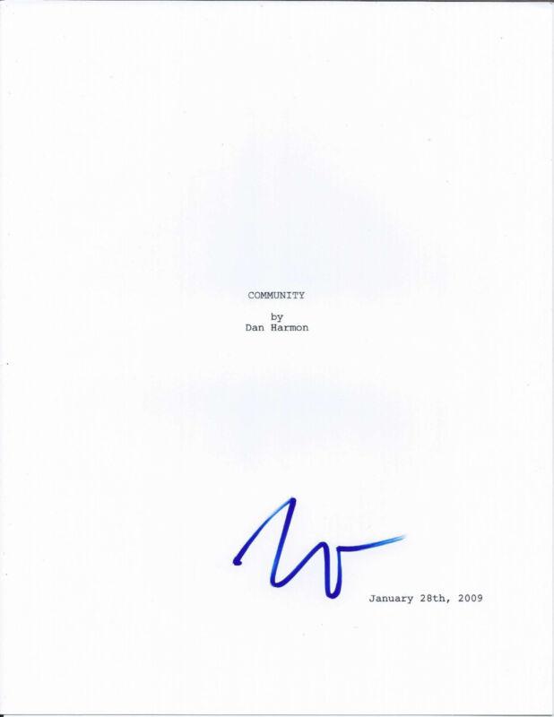 KEN JEONG SIGNED COMMUNITY 'PILOT' EPISODE FULL 34 PAGE SCRIPT w/COA SENOR CHANG