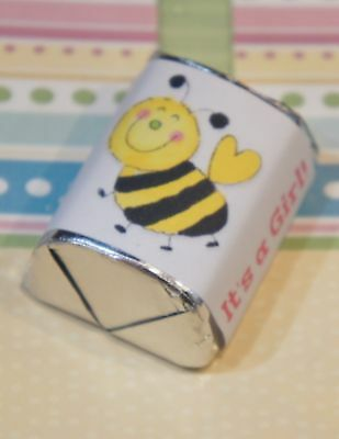 30 Baby Shower Its A Girl Bumble Bee Hershey Candy Nugget Wrappers Stickers