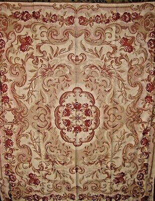NEW Kirklands throw blanket chenille Shabby Tan chic roses brick Red Floral $59.
