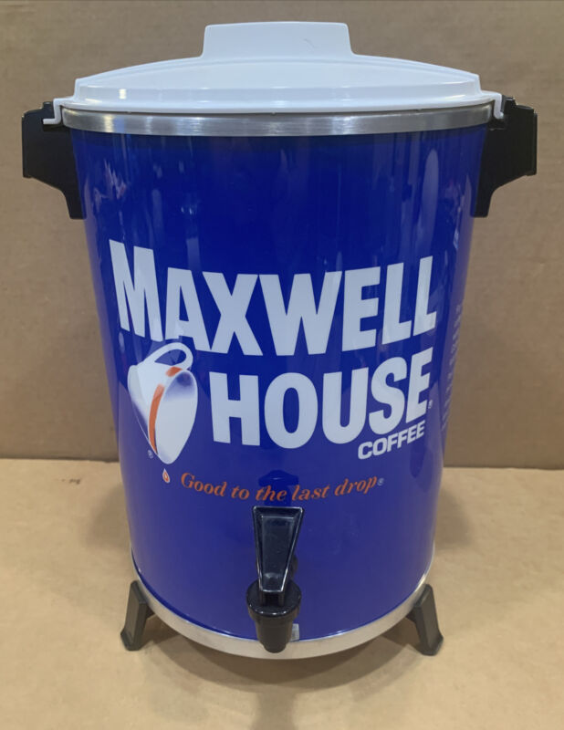 Maxwell House Coffee Pot Maker 30 Cup Metal Percolator West Bend. BRAND NEW USA