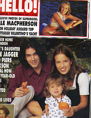 JADE JAGGER UK Hello 1994 9/3/94 Magazine #320 JAMIE LEE CURTIS MARISKA HARGITAY