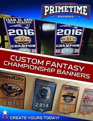 Custom Fantasy Football Championship Banner - 1' x 2' Size - Fantasy Football Banner
