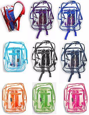 Clear Plastic See Through Multi Color Transparent - Coloring Backpack