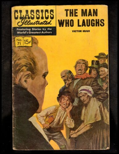 CLASSICS ILLUSTRATED #71 G-   HRN167 (THE MAN WHO LAUGHS) VICTOR HUGO