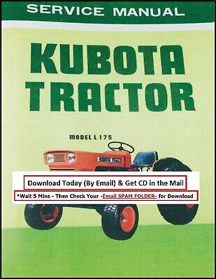 Kubota L175 Tractor Service Repair Manual Parts Catalog Shop Set Workshop Cd