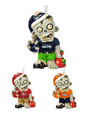 NFL Football Team Logo Resin Zombie Ornament - Pick Your - Football Zombie