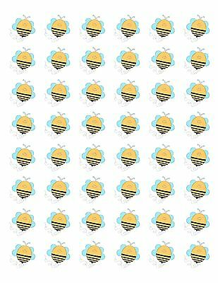 48 BUZZING BEE ENVELOPE SEALS LABELS STICKERS 1.2