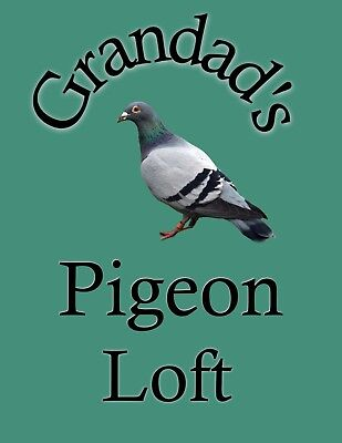 METAL SIGN GRANDADS PIGEON LOFT NOVELTY SIGN XMAS GIFT 107