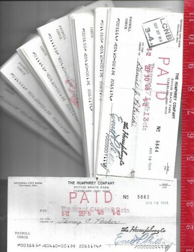 Vintage lot 100 Euclid Beach amusement Park Payroll checks Cleveland Ohio 1960