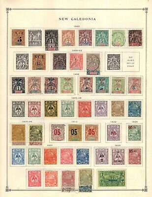 New Caledonia Collection from Excellent Scott Intern Album 1840-1940
