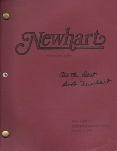 "Newhart (1989) ""Good Lord Loudon"" original script signed by Bob Newhart"