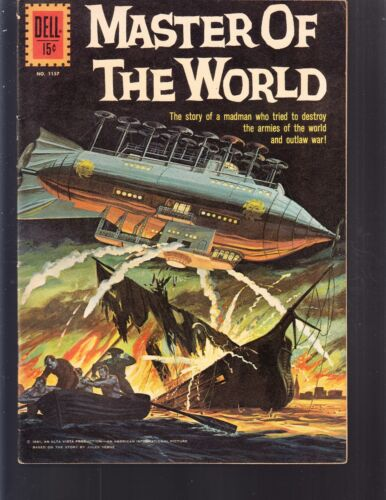 4-COLOR  MASTER OF THE WORLD #1157 DELL 1961 FN+  MOVIE/TV