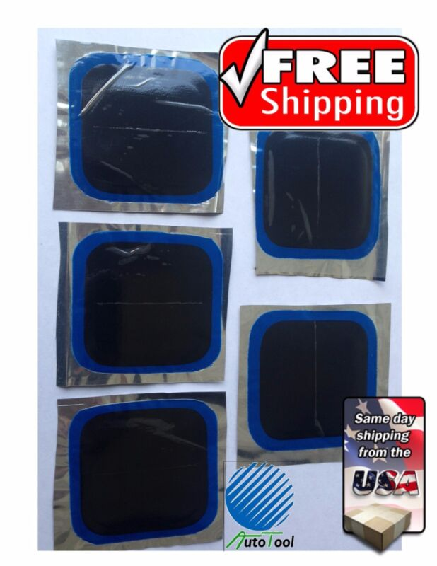 """Vulcanizing 75 mm(2.75"""") Square Tire Patches Bag of 5 Tire Wall Repair"""