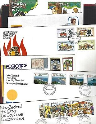 New Zealand sc#625a-48, B98-100 (1977-8) Complete FDC's