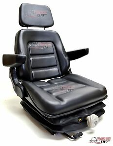 NEW LOW PROFILE SUSPENSION SEAT WITH ARMREST DOZER BACKHOE TRACTOR SKIDSTEER