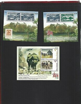 New Zealand sc#1517a, 1520a, 1525a (1998) Souvenir Sheets MNH