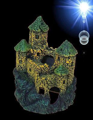 TOP Aquarium Deko 🍀 SCHLOSS 🍀 Burg Festung Terrarium Dekoration Zubehör Höhle
