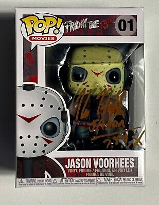 Kane Hodder Signed Jason Voorhees Funko Pop #01 JSA