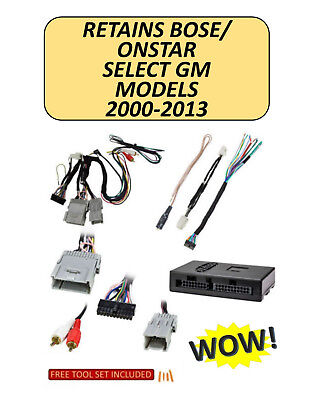 BOSE-ONSTAR-CHIME-AMP ADAPTER FOR 2000-2013 GM VEHICLES FACTORY INTERFACE