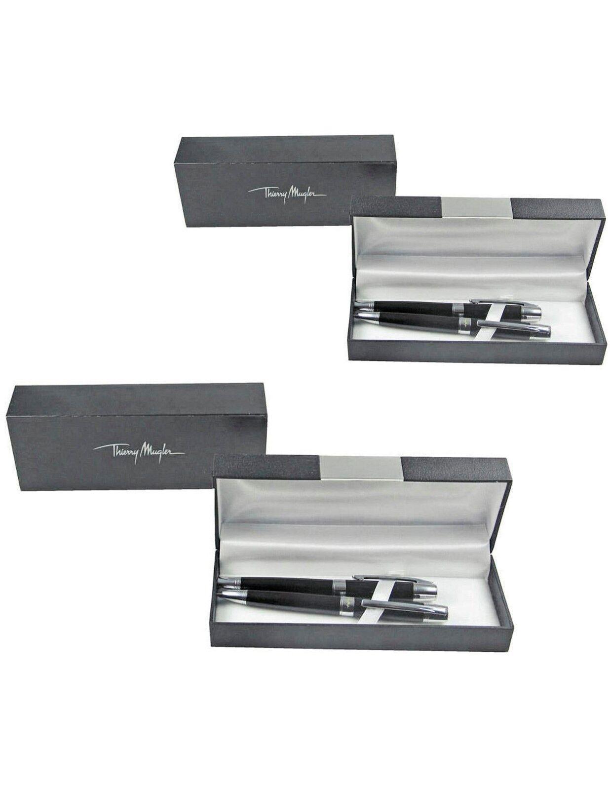 2 Stück Schreibset Thierry Mugler Kugelschreiber & Bleistift  3-teilig