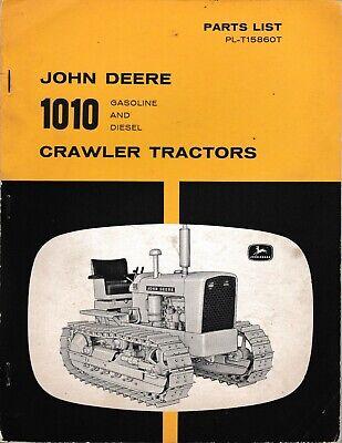 John Deere 1010 Crawler Tractors Gasoline And Diesel Parts Manual