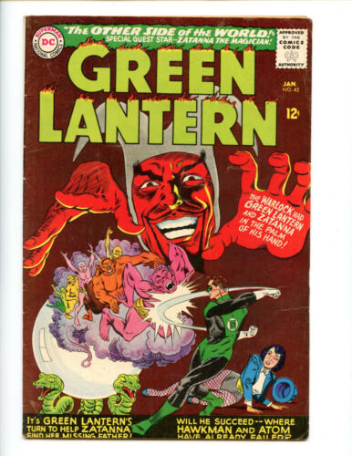 Green Lantern 42 Early Zatanna! solid copy
