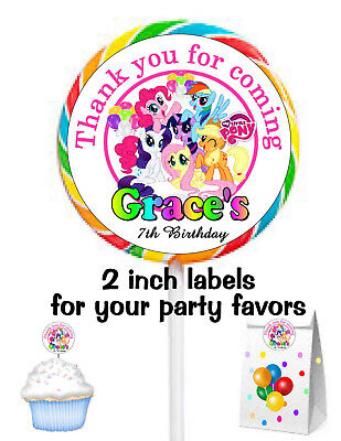 20 MY LITTLE PONY BIRTHDAY PARTY FAVORS STICKERS LABELS FOR YOUR PARTY FAVORS - Pony Birthday Party