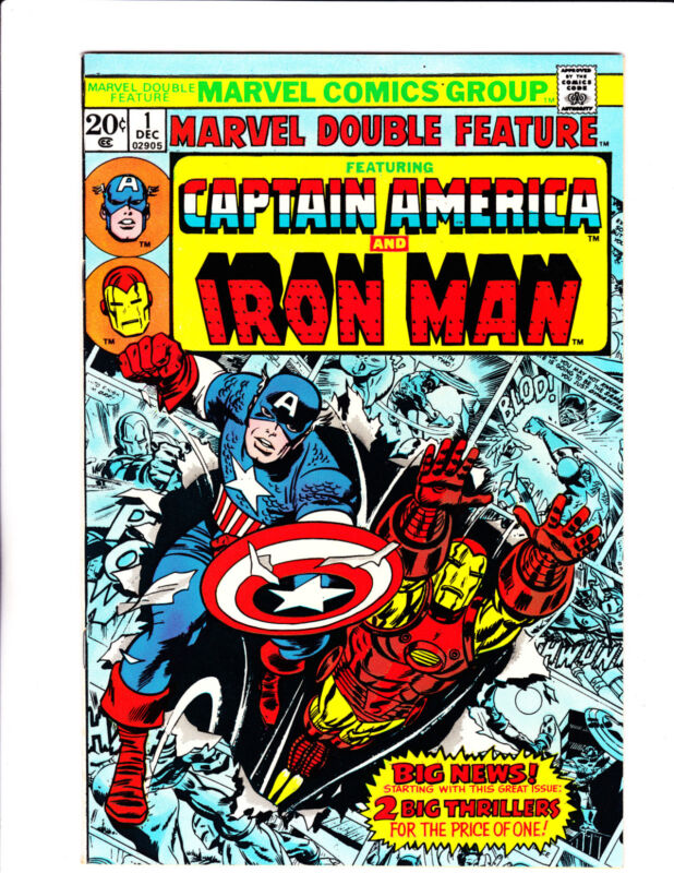 """Marvel Double Feature No.1   : 1973 :    : """"The Other Iron Man!"""" :"""