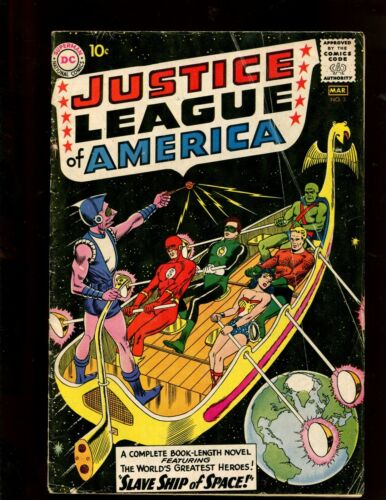 JUSTICE LEAGUE OF AMERICA #3 (4.0) SLAVE SHIP OF SPACE!