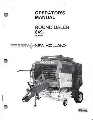 New Holland 849 Round Baler Operator Manual 42084912