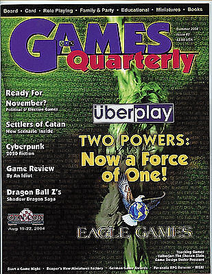 Games Quarterly Magazine Summer 2004 #2 nm-m new unread Entertainment Guide H27