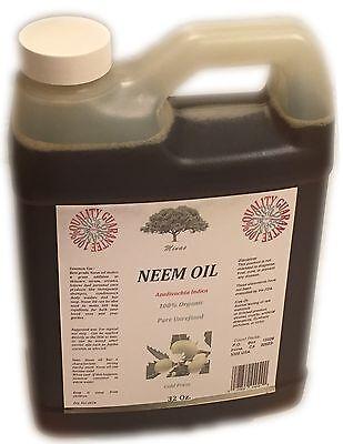 32 Oz NEEM Oil  Pure  Virgin 100% ORGANIC  DIY NEEM OIL COLD PRESSED Best