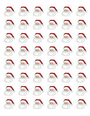 48 SANTA CLAUS CHRISTMAS ENVELOPE SEALS LABELS STICKERS 1.2