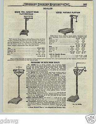 1919 PAPER AD OVB Our Very Best Doctors' Office Physicians' Tall Scale (Best Physician Scales)