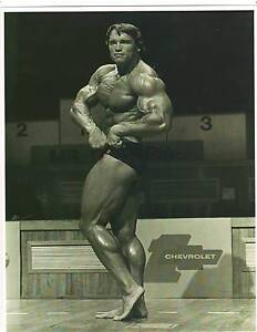 Arnold Schwarzenegger 7 x.. Mr Olympia Muscle Bodybuilding Photo B&W
