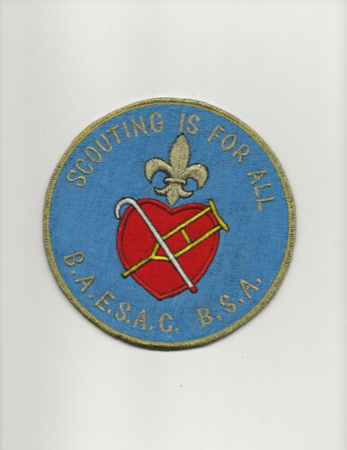 """6 inch JACKET PATCH - """" SCOUTING IS FOR ALL """" - B. A. E. S. A .C - Boy Scout BSA"""
