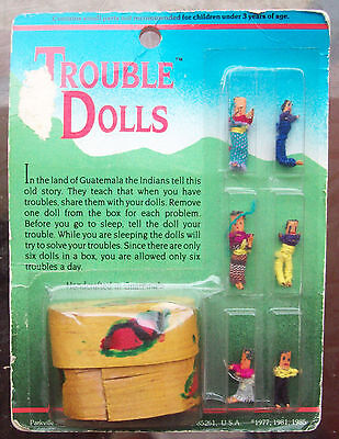 'TROUBLE DOLLS' DOLLS DREAM CATCHER WITH CASE FATTE HANDMADE IN GUATEMALA