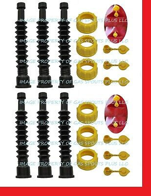Midwest Gas Can Aftermarket Spouts Parts Kits W Screen Collars Vents 6-pack
