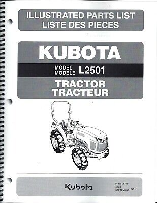 Kubota L2501 Tractor Illustrated Parts Manual 97898-26310