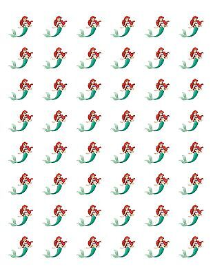 48 LITTLE MERMAID ARIEL ENVELOPE SEALS LABELS STICKERS 1.2