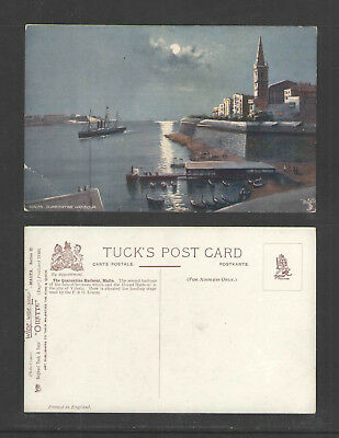 1910s MALTA QUARENTINE HARBOUR SERIES II #7091 RAPHAEL TUCK POSTCARD