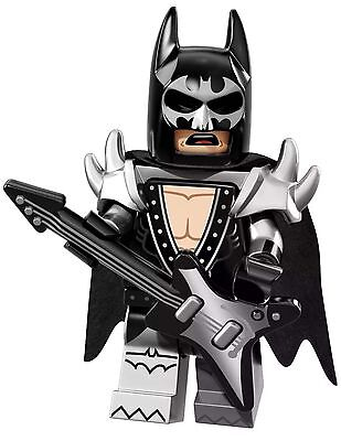 LEGO GLAM METAL BATMAN MINIFIGURE THE MOVIE MINIFIGURES LOT SERIES 71017 #2 PACK