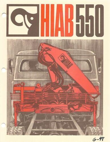 Equipment Brochure - Hiab - 550 - Truck Crane Lift (E6794)