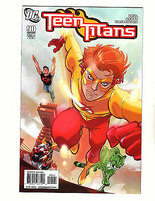 Teen Titans #90 (2011, DC) VF/NM 1:10 Variant Cover by Karl Kerschl Kid Flash