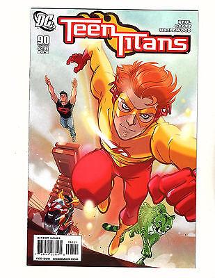 Teen Titans #90 (2011, DC) VF/NM 1:10 Variant Cover by Karl Kerschl Kid Flash