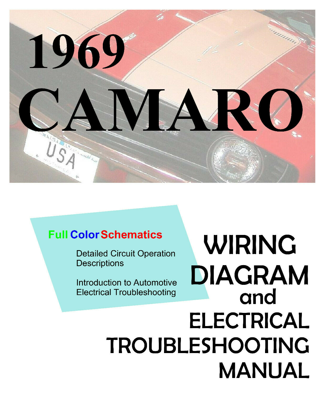 1969 69 Camaro Full Color Wiring Diagrams And Electrical