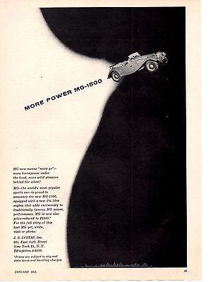 1955 MG-1500  ~  RARE ORIGINAL PRINT AD