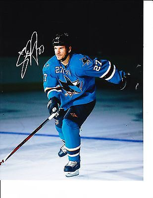 be29a78484e SAN JOSE SHARKS SCOTT HANNAH SIGNED DARK RINK 8X10