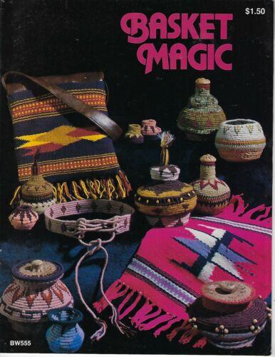 Basket Magic Basketry Weaving Patterns Vintage Craft Project Instruction Book